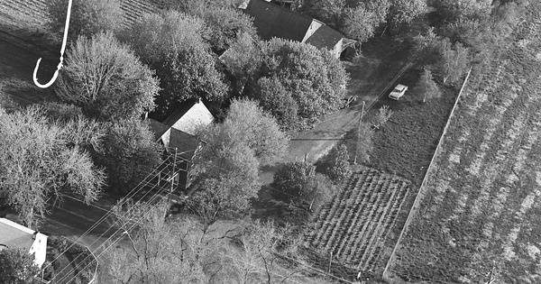 Vintage Aerial photo from 1982 in Bucks County, PA