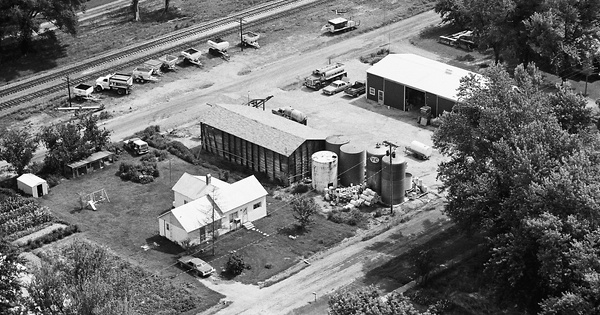 Vintage Aerial photo from 1980 in Marion County, IL