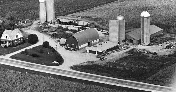 Vintage Aerial photo from 1976 in Dane County, WI