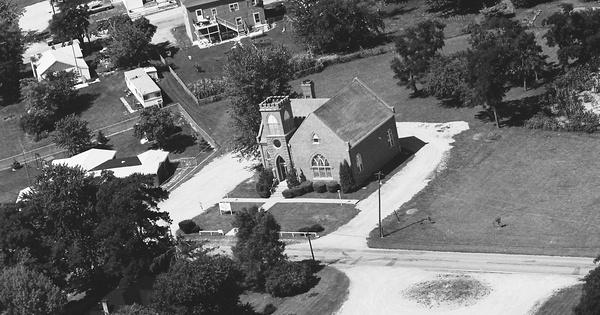 Vintage Aerial photo from 1976 in Delaware County, IN