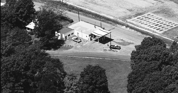 Vintage Aerial photo from 1975 in Orange County, VA