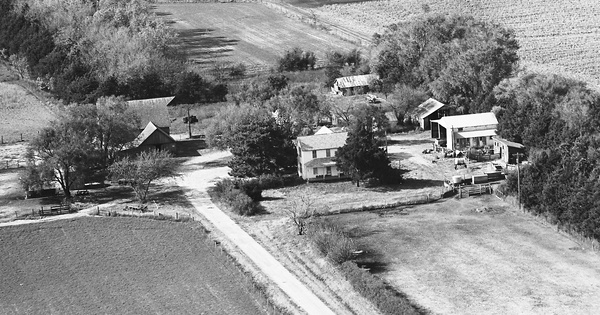 Vintage Aerial photo from 1973 in Nemaha County, KS