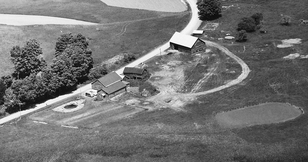 Vintage Aerial photo from 1992 in Otsego County, NY