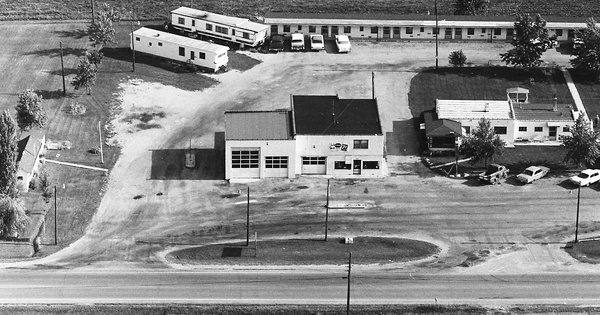 Vintage Aerial photo from 1969 in Preble County, OH