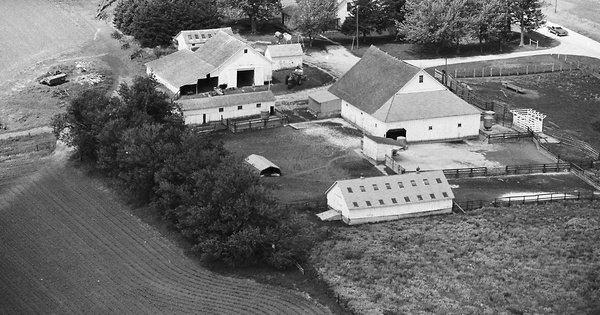 Vintage Aerial photo from 1979 in Adair County, IA