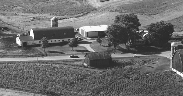Vintage Aerial photo from 1977 in Outagamie County, WI