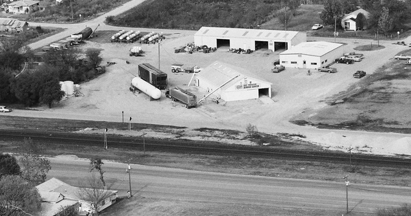 Vintage Aerial photo from 1987 in Uvalde County, TX