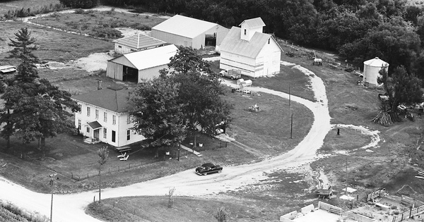 Vintage Aerial photo from 1966 in Mason County, IL