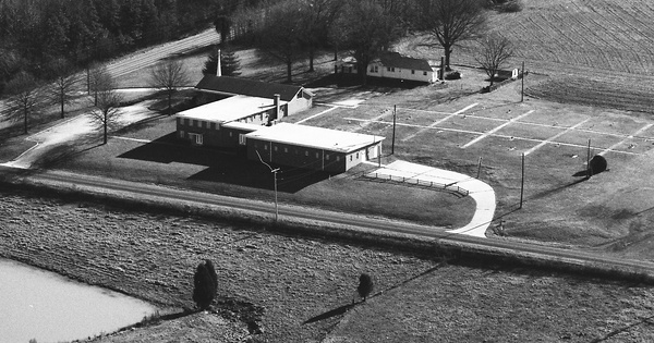 Vintage Aerial photo from 1983 in Stanly County, NC