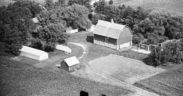 Vintage Aerial photo from 1968 in Olmsted County, MN