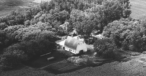 Vintage Aerial photo from 1967 in McLeod County, MN
