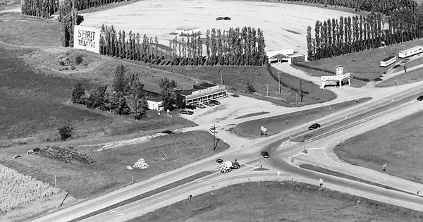 Vintage Aerial photo from 1970 in Dickinson County, IA