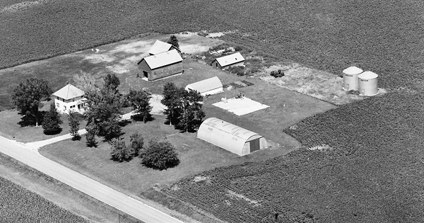 Vintage Aerial photo from 1981 in Winnebago County, IA