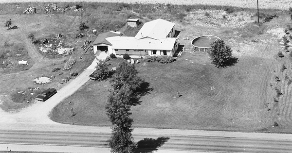Vintage Aerial photo from 1978 in Gratiot County, MI