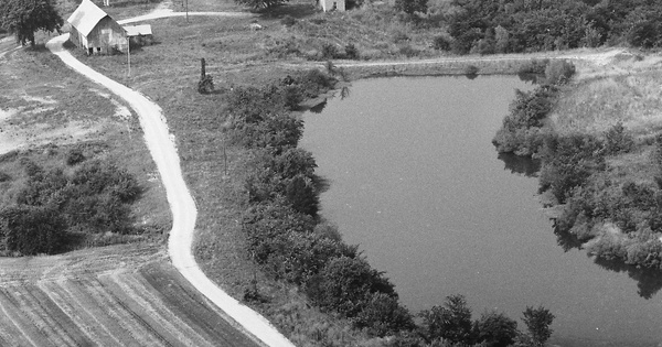 Vintage Aerial photo from 1983 in Bond County, IL