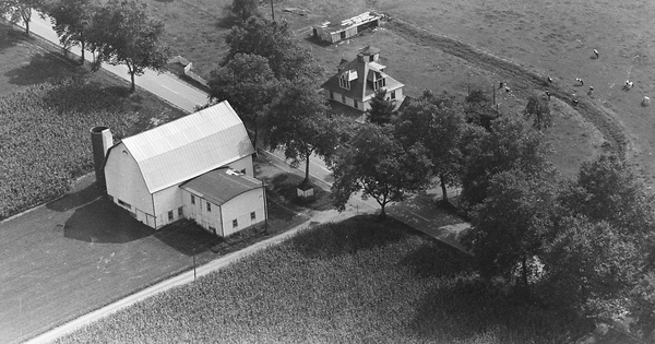 Vintage Aerial photo from 1963 in York County, PA