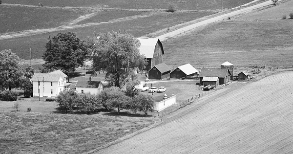 Vintage Aerial photo from 1977 in Green County, WI