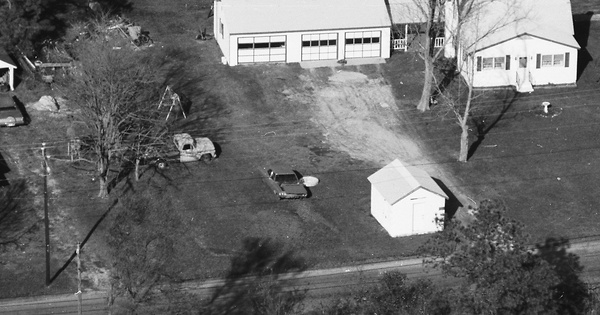 Vintage Aerial photo from 1985 in Gloucester County, VA