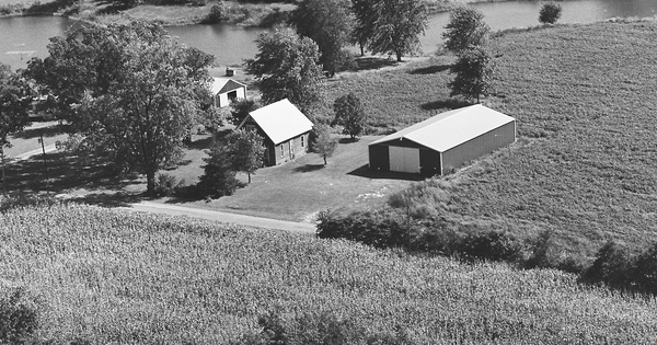 Vintage Aerial photo from 1981 in Cumberland County, IL