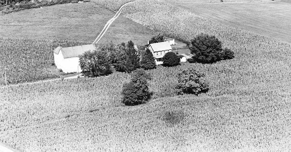 Vintage Aerial photo from 1963 in Lancaster County, PA