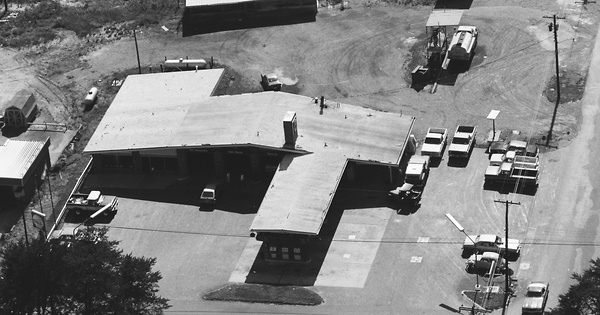 Vintage Aerial photo from 1985 in Yadkin County, NC