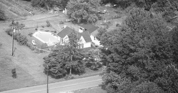 Vintage Aerial photo from 1987 in Salem County, NJ