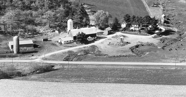 Vintage Aerial photo from 1987 in Jackson County, WI