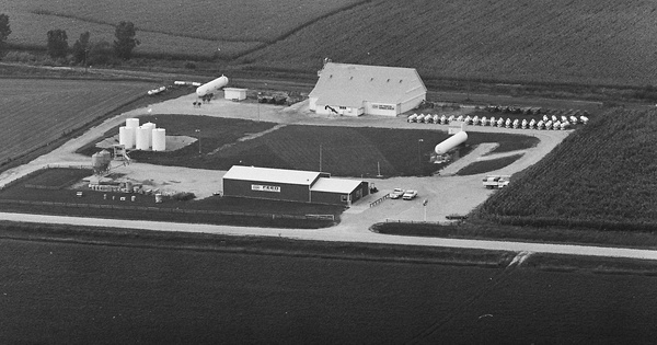 Vintage Aerial photo from 1981 in Benton County, IA
