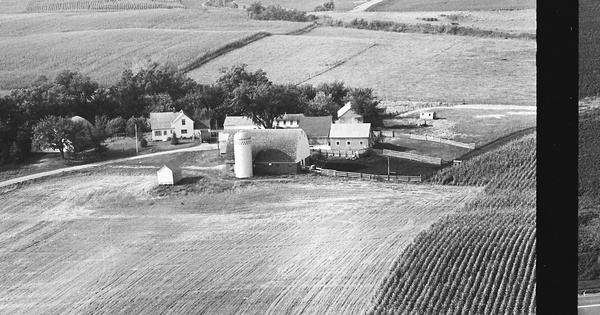 Vintage Aerial photo from 1967 in Le Sueur County, MN