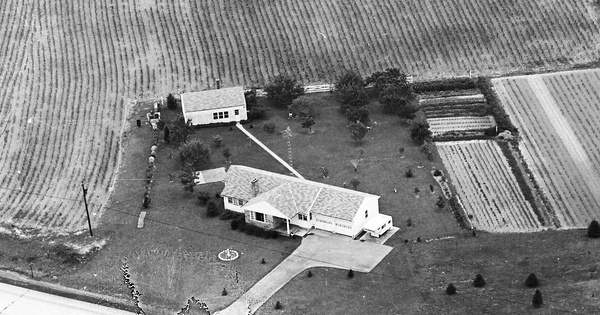 Vintage Aerial photo from 1967 in Lawrence County, PA