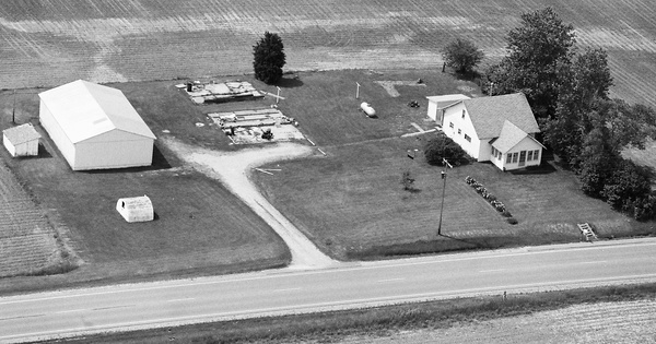 Vintage Aerial photo from 2001 in Blackford County, IN