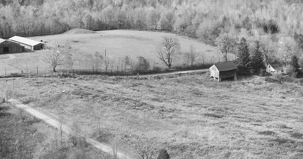 Vintage Aerial photo from 1980 in Licking County, OH