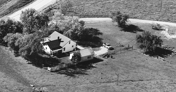 Vintage Aerial photo from 1967 in Addison County, VT