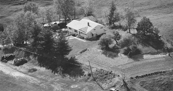 Vintage Aerial photo from 1987 in Noble County, OH