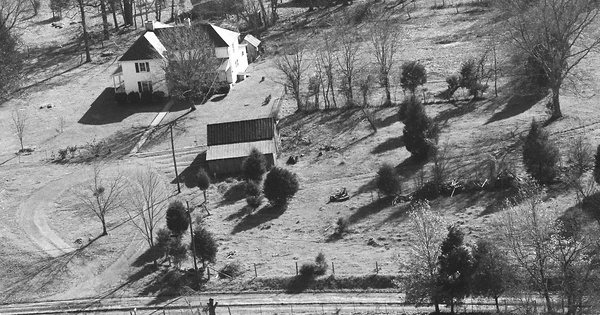 Vintage Aerial photo from 1986 in Meigs County, TN
