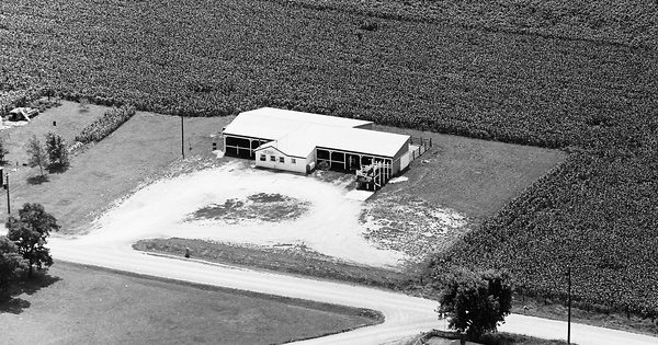 Vintage Aerial photo from 1967 in Morgan County, IL