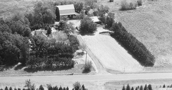 Vintage Aerial photo from 1988 in Sherburne County, MN