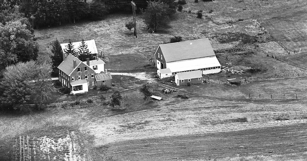Vintage Aerial photo from 1964 in Strafford County, NH