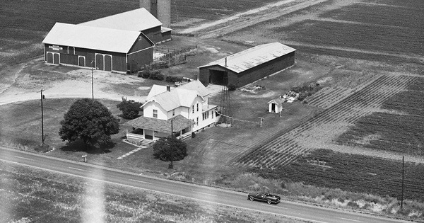 Vintage Aerial photo from 1981 in Henry County, OH