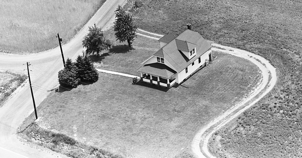 Vintage Aerial photo from 1963 in Lycoming County, PA