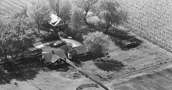 Vintage Aerial photo from 1964 in Kane County, IL