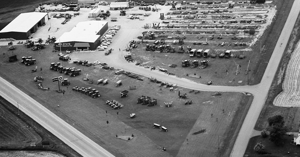Vintage Aerial photo from 1978 in Columbia County, WI