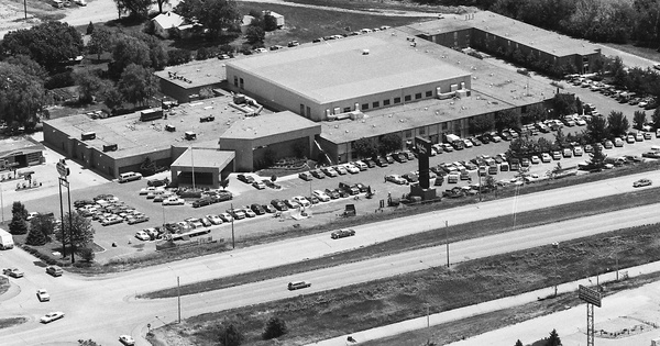 Vintage Aerial photo from 1985 in Kearney County, NE