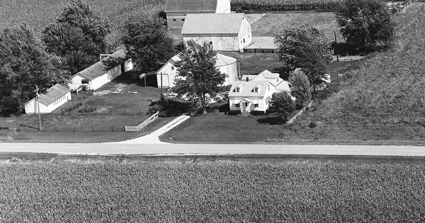 Vintage Aerial photo from 1981 in Scott County, IA