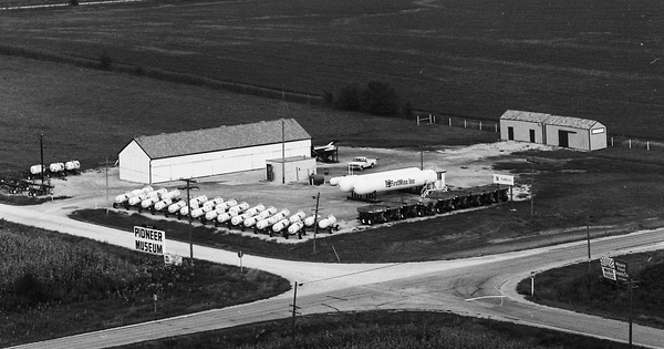 Vintage Aerial photo from 1976 in Keokuk County, IA