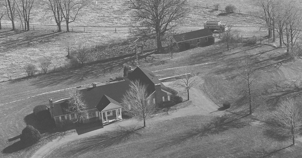 Vintage Aerial photo from 1980 in Bourbon County, KY