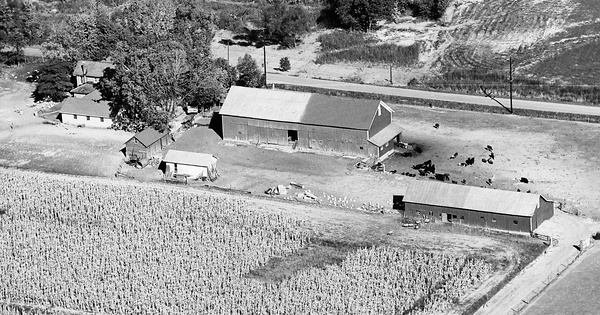 Vintage Aerial photo from 1966 in Huntington County, IN