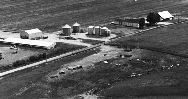 Vintage Aerial photo from 1983 in Clay County, IL