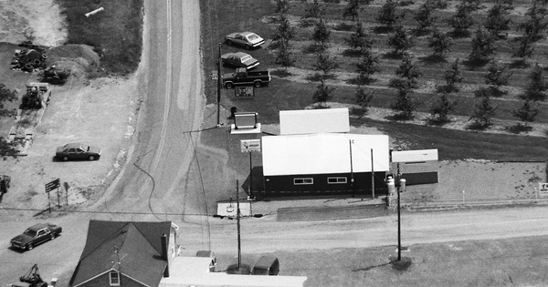 Vintage Aerial photo from 1990 in Schuylkill County, PA