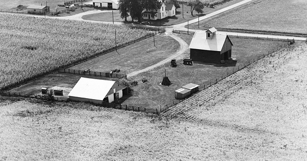 Vintage Aerial photo from 1967 in Edgar County, IL